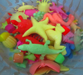 20 шт./лот океан животных растет игрушка морской биологии пластмассовые игрушки морских животных игрушки свет-замачивание расширение