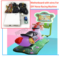 DIY Arcade Mainboard Kits for Kiddiy Ride Car Racing / Horse Racing Video game machine with motherboard and wires cables