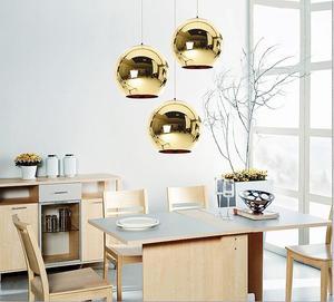 Image 5 - LukLoy Modern Style szkło lustrzane piłka wisiorek światła kolor miedzi Globe wisząca lampa nowoczesne oświetlenie 1 sztuka