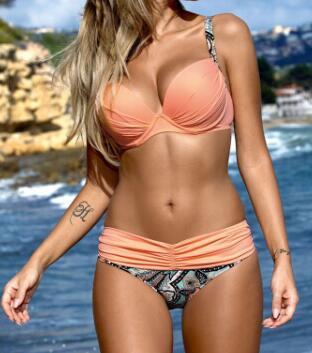 где купить Bikini Set 2017 Summer Low Waist Swimwear Women Large Size Swimsuit Bathing Suit Push Up Biquini Brazilian Maillot De Bain по лучшей цене