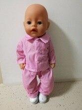New American Girl pajamas Doll Clothes coat Wear fit 43cm Baby Born zapf Children best Birthday
