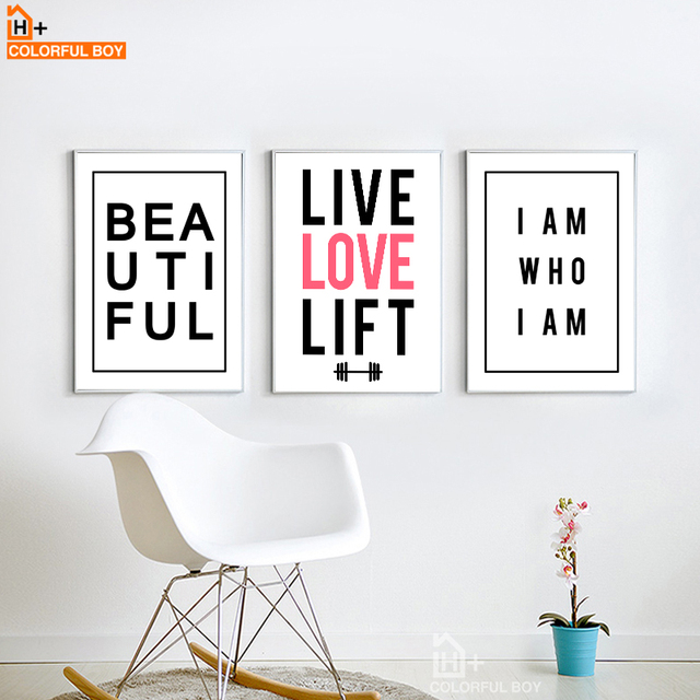 Love Quotes On Canvas Awesome Colorfulboy Wall Art Posters And Prints Modern Minimalism Love
