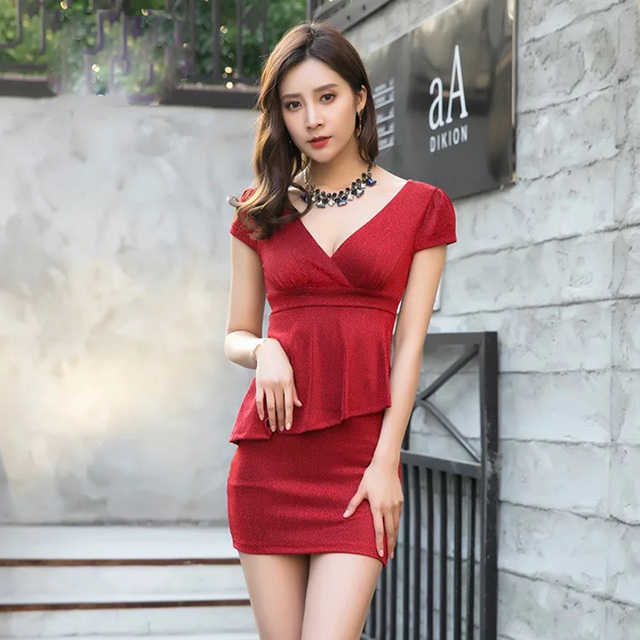 503672500 2019 Summer Women Dress Satin Sleeveless Bandage Elegant Party Dress  Vestidos Sexy Elegant Hollow Out