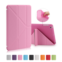 Ultra Thin Stand Design PU Leather Case For IPad 2 3 4 Cover Colorful Option Flip
