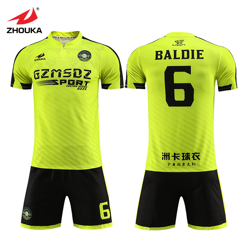 cdff9916e Best quality low MOQ soccer kit cheap soccer uniform custom soccer jersey  set for men football