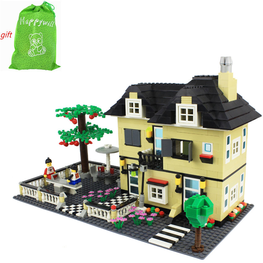 Happywill 816Pcs Wange Building Blocks Doll House Constructor Set Bricks Toys Educational Toys for Children Compatible wange mechanical application of the crown gear model building blocks for children the pulley scientific learning education toys