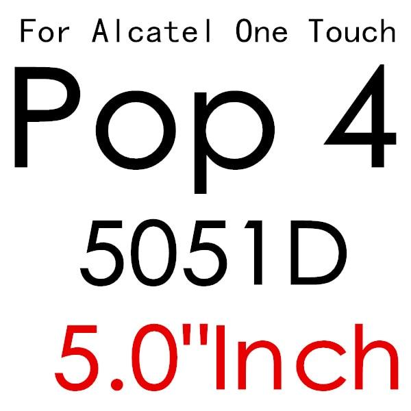 Экран протектор Закаленное Стекло для Alcatel One Touch Pop 3 5,5 5025D Idol 3 POP4 5051 4S Pixi 4 5,0 5010 Pixi3 4,5 5019D 5017 - Цвет: For POP 4 5051D