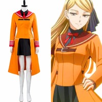 The Ancient Magus' Bride Cosplay Chise Hatori Costume Academy Edition Outfit Orange Dress Suit Adult Halloween Carnival Costume