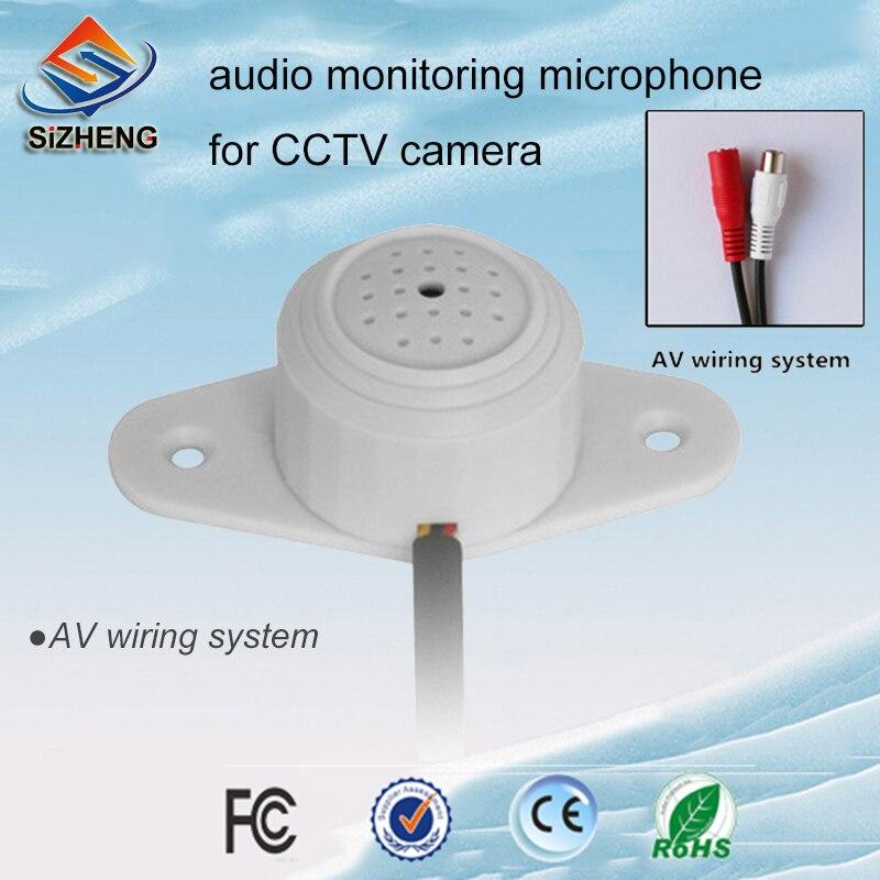 SIZHENG COTT-QD30S HD áudio CCTV microfone monitor de som teto ampla gama para câmera ip de vigilância por vídeo