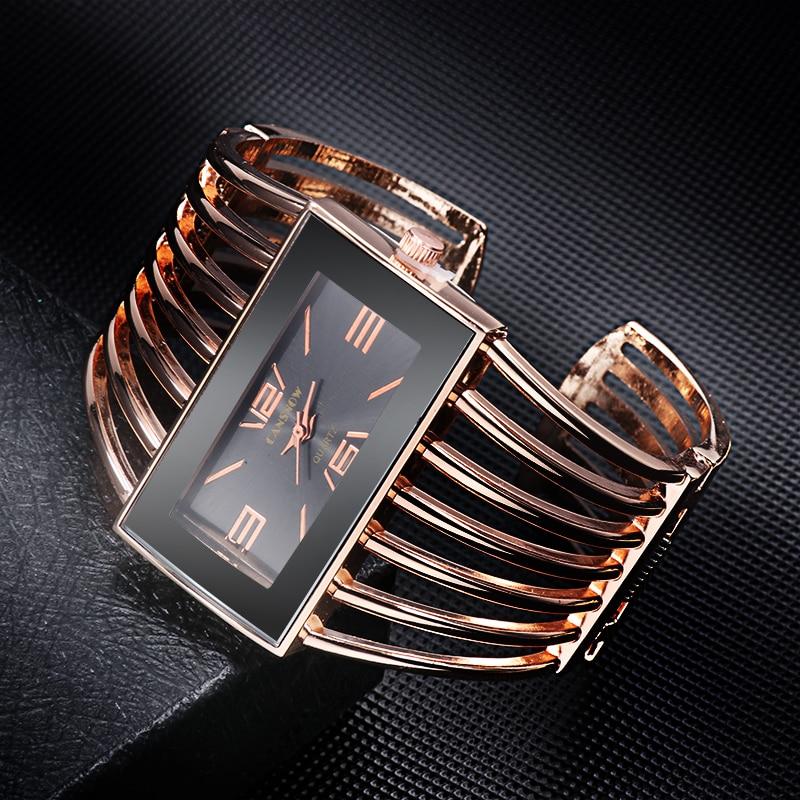 CANSNOW Womens Watch Luxury Fashion Rose Gold Bangle Bracelet Watch Women Dress Clock Female Lady Saati Girls Wristwatch Relojes 5