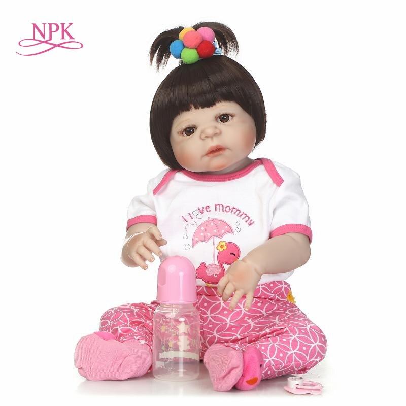 NPK odrodzona lalka z miękkim delikatny dotyk pełne ciała silicoen lalki silikonowe winylu bebe nowe prawdziwe reborn dla dzieci w Lalki od Zabawki i hobby na  Grupa 1