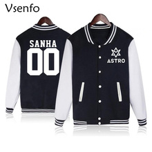Vsenfo Kpop Astro Hoodie Women Men Sanha Mj Rocky Moonbie Eunwoo Jinjin Printed Sweatshirt Cotton Baseball Jacket Coat