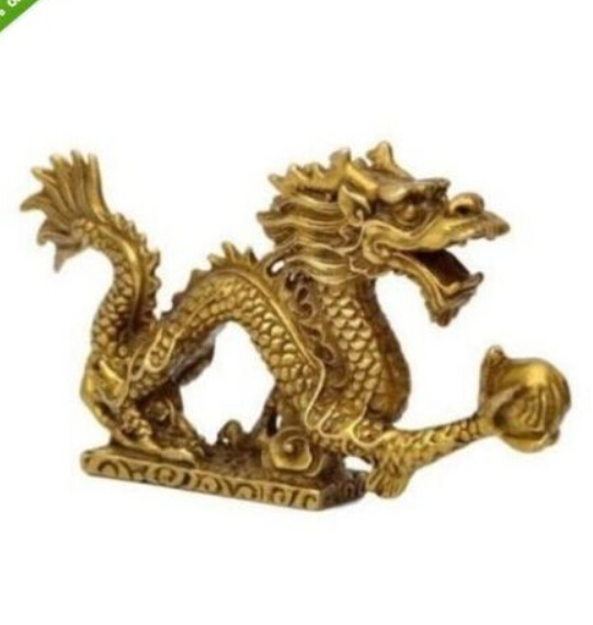 JP S0001 Chinese Bronze Brass Dragon Figurine Statue Long 13cm B0403|statue resin|statue modern|statues wholesale - title=