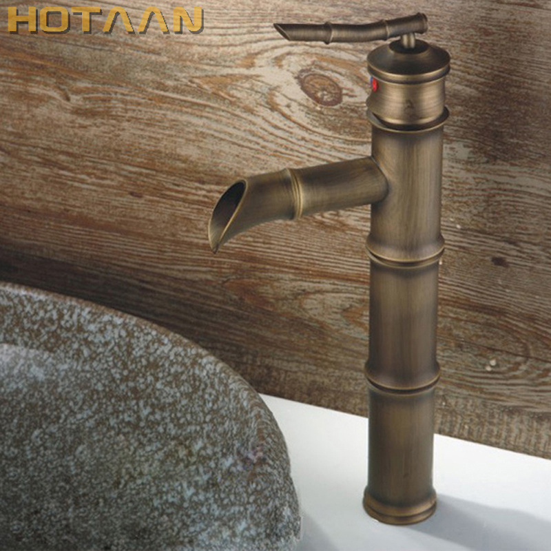 Free shipping Antique bronze finishing Output bathroom sink faucet tap handle water tap basin faucet wash basin tap torneira free shipping dual handle brass faucet bathroom basin mixer rose gold wash basin tap torneira