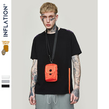 INFLATION Side Zipper Cotton Tshirt High Stret Hiphop T Shirt Harajuku Tshirt Streetwear Summer 2019 Tops Tees for Homme 91201S(China)