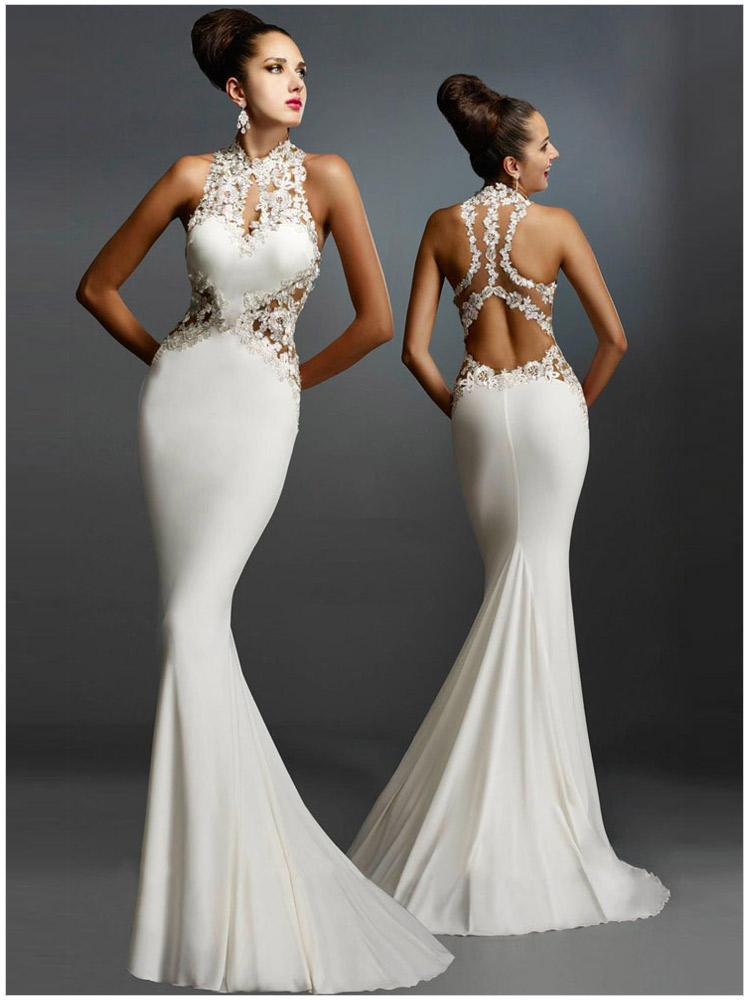 2019 nouveauté soirée blanche longue Satin Appliques robes de soirée robes de bal robes de fête vestidos de fiesta de noche