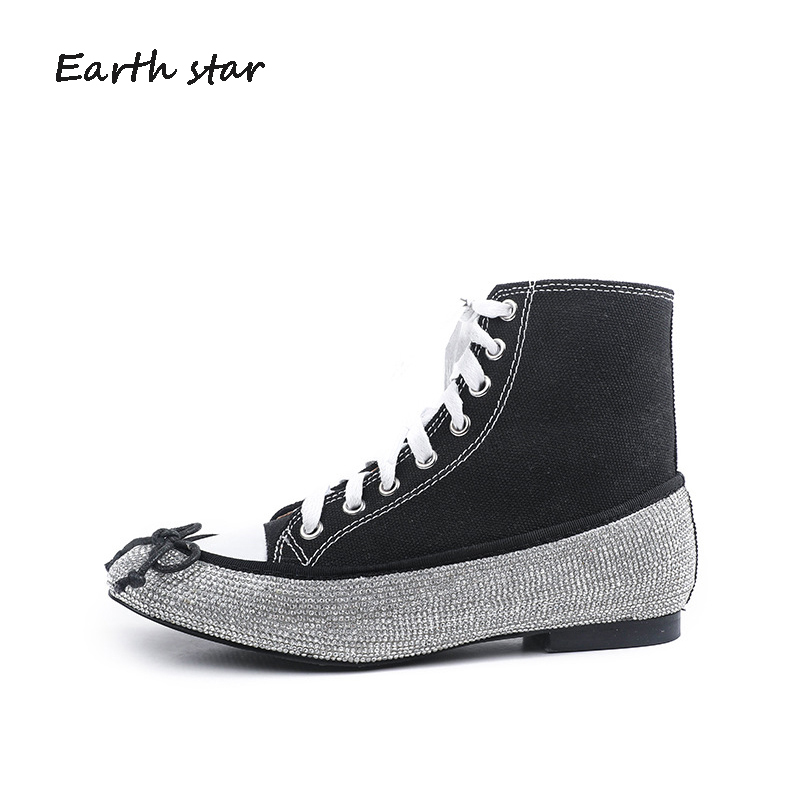 0a6b4b8c Moda Lona Mujer Chaussure De Estrella Con Marca Earth black Superior  Zapatillas Star Zapatos Transpirables Top ...