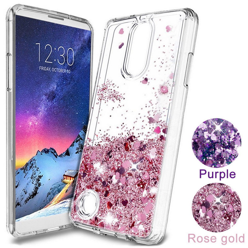 Lovely Glitter Hearts Liquid Quicksand Case For <font><b>LG</b></font> <font><b>K4</b></font> K10 2017 V30 V20 Clear Case Soft Silicon Back <font><b>Cover</b></font> For <font><b>LG</b></font> G7 G4 G5 G6 Q6 image