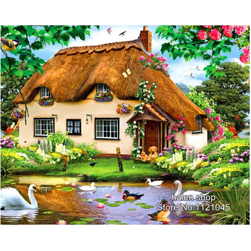 Spring Hut Diamond Painting Painting Cross Stitch