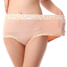Women bamboo Stone Pattern Panties Plus Size 6XL 100kg Tall waist Big size Underwears