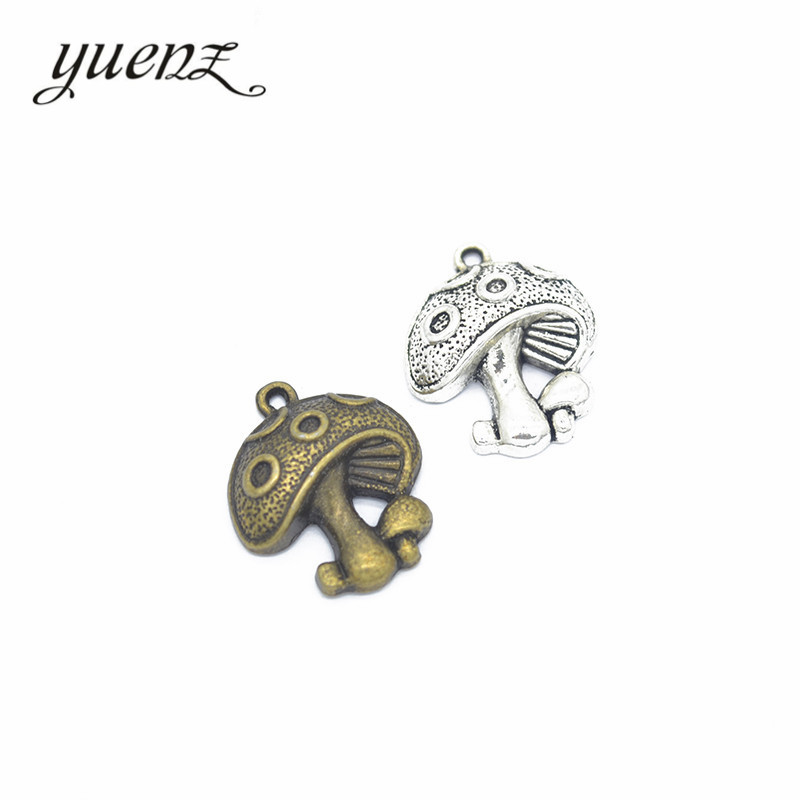 YuenZ 12pcs fashion alloy jewelry mushroom charms metal pendant diy Jewelry Accessories K18