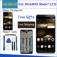 AICSRAD Brand New LCD Display+Digitizer Touch Screen Glass Assembly For Huawei Mate7 Mate 7 Cellphone 6.0 With Frame