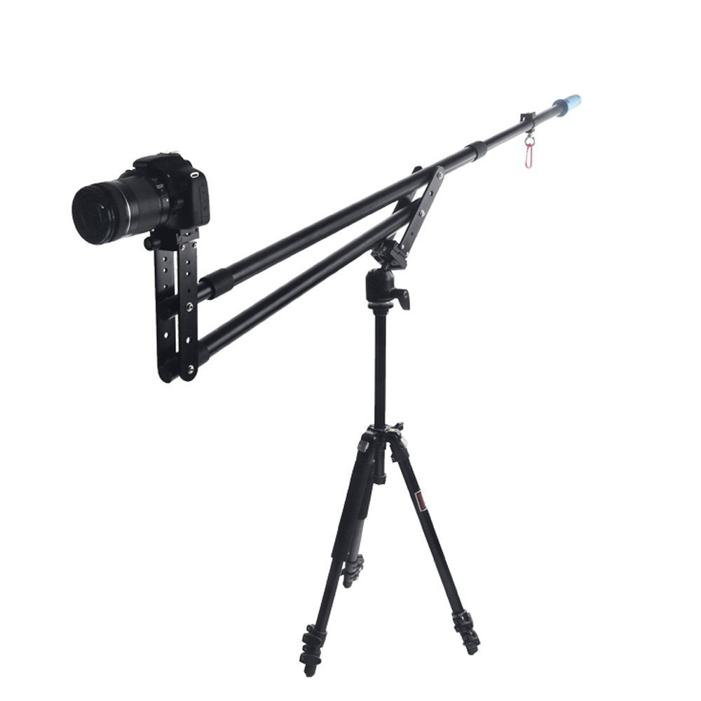 Top Deals Portable DSLR Mini Jib Video Camera DV Crane Jibs Rocker Arm Extention Up to 6kg with Bag professional dv camera crane jib 3m 6m 19 ft square for video camera filming with 2 axis motorized head