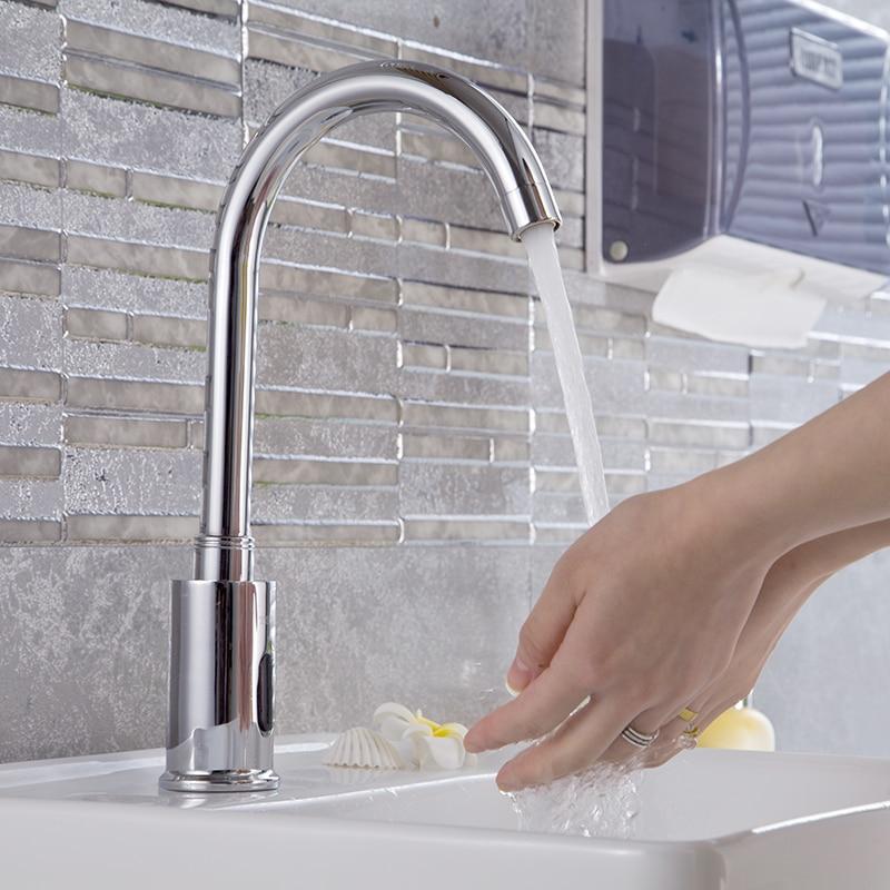 Здесь продается  Automatic infrared Sensor Tap 38cm High for Kitchen Basin Hot & Cold Water Swiveling Sensing faucet DC6V Baterry Power  Строительство и Недвижимость