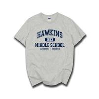 STRANGER THINGS Hawkins High School Short Sleeve T Shirts Tee Tshirts 100 Cotton Jersey Joggers Free