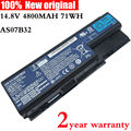 8cell 14.8V AS07B31 original Laptop Battery for acer Aspire AS07B32 5520 5720 5920G 5930G 6920G 6930G 7520G 7330 5930G AS07B51