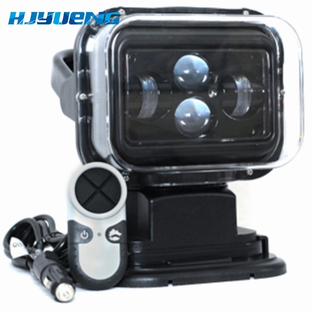 """For 4X4 Marine Camping Boat Headlight 12v 24v led searching light 7inch 7"""" 60W LED Remote Control Searchlight LED Spotlight"""