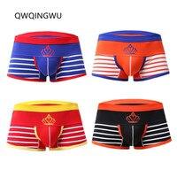 4PCS/Lot Breathable Underwear Men Boxers Sleepwear Comfortable Soft Cotton Sexy Men Underwear Boxers Shorts Trunk Underpants