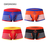 4PCS/Lot Breathable Underwear Men Boxers Sleepwear Comfortable Soft Cotton Sexy Men Underwear Boxers Shorts Trunk Underpants