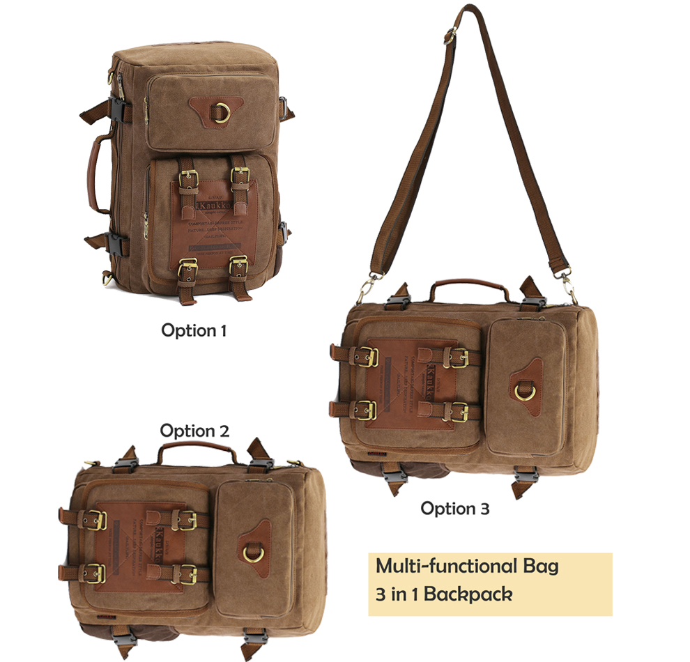 Marke Stilvolle Reise New vintage rucksack canvas backpack leisure travel schoolbag unisex laptop backpacks men backpack male 10