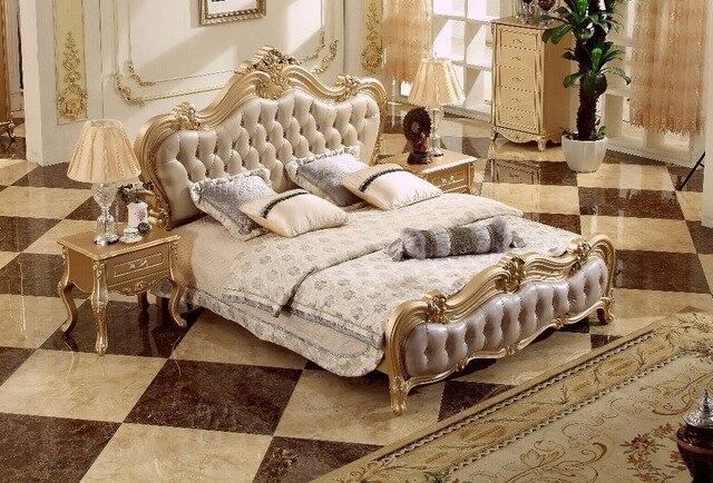 Comprar ahora 2018 de oro rosa dormitorio cama King Size estilo ...