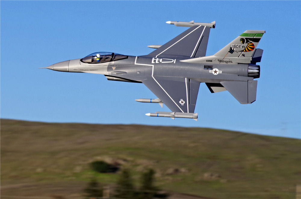 FMS RC Airplane 70mm F16 F-16C Fighting Falcon V2 Ducted Fan EDF Jet Big Scale Model Plane Aircraft PNP 6S with Retracts