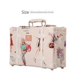 Bolso de mujer, Maleta ligera con cierre de código de 12 pulgadas, Mini bolso de negocios para mujer, bolso cosmético de PU, maleta para maquillaje, bolsa de aseo, bolsa de viaje