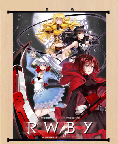 Game RWBY Crescent Rose&Weiss Schnee Home Decor Poster Wall OW Scroll Painting