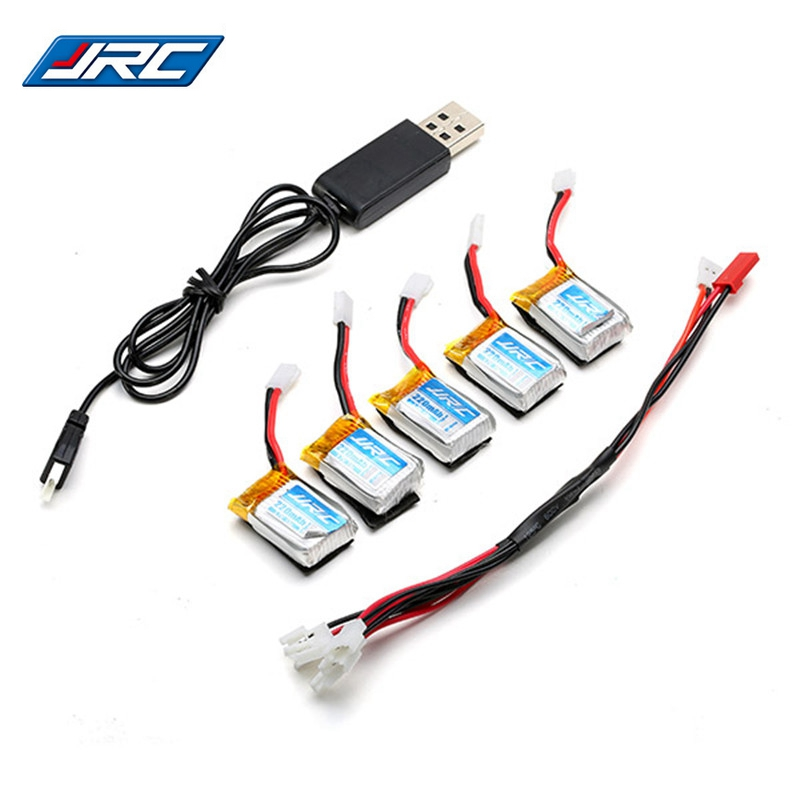 Best Deal 1 To 5 3.7V 220MAH 15C Lipo Battery with Charger for JJRC H22 RC Drones Quadcopter Spare Parts Accessories 3pcs battery and european regulation charger with 1 cable 3 line for mjx b3 helicopter 7 4v 1800mah 25c aircraft parts