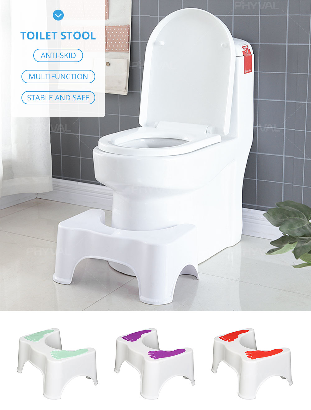 Excellent Us 12 38 40 Off Toilet Stool Footstool Step Stool Toilet Bowl Step Stool Bathroom Stool Squatting Children Pregnant Women Footstool 47 33 21Cm In Machost Co Dining Chair Design Ideas Machostcouk