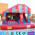 Circo comercial Bouncer Inflável Trampolim Castelo com Escorregador para crianças
