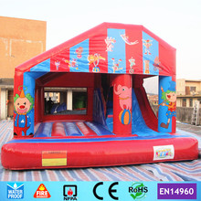 Commercial Circus Inflatable Bouncer Castle Trampoline with Slide for kids