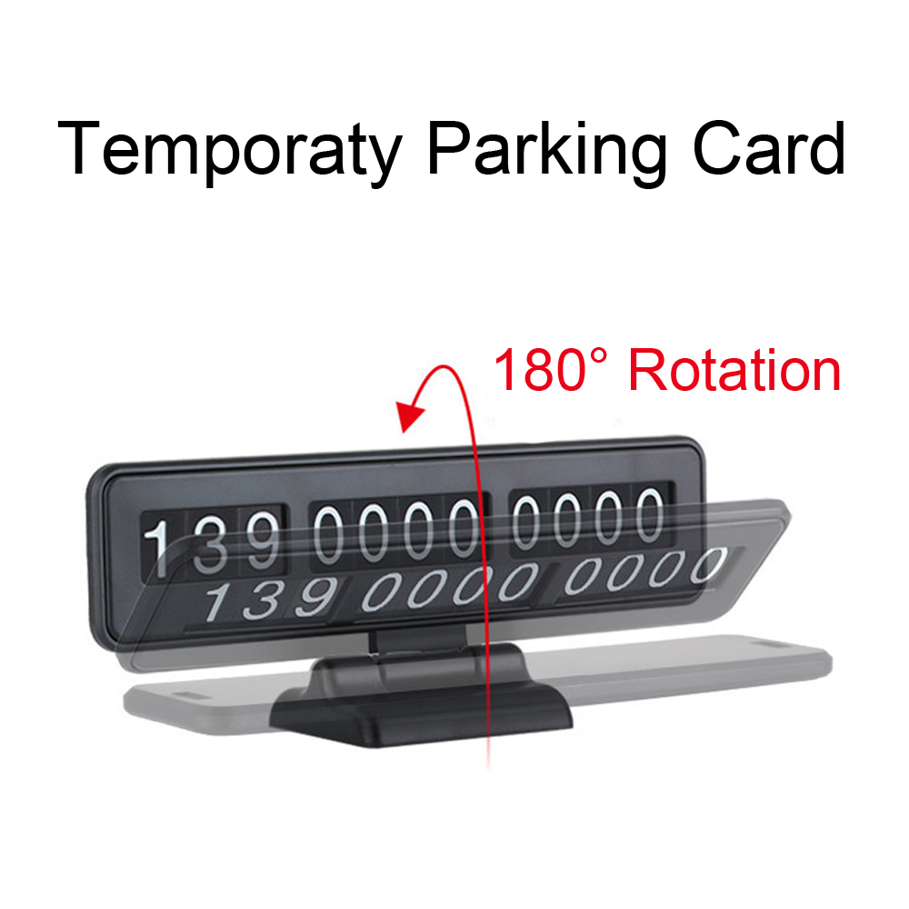 Qiateng Temporary Stop Sign Car Parking Card Number Can Hide Parking Assistance Car-styling Temporary Parking Card For Car Move