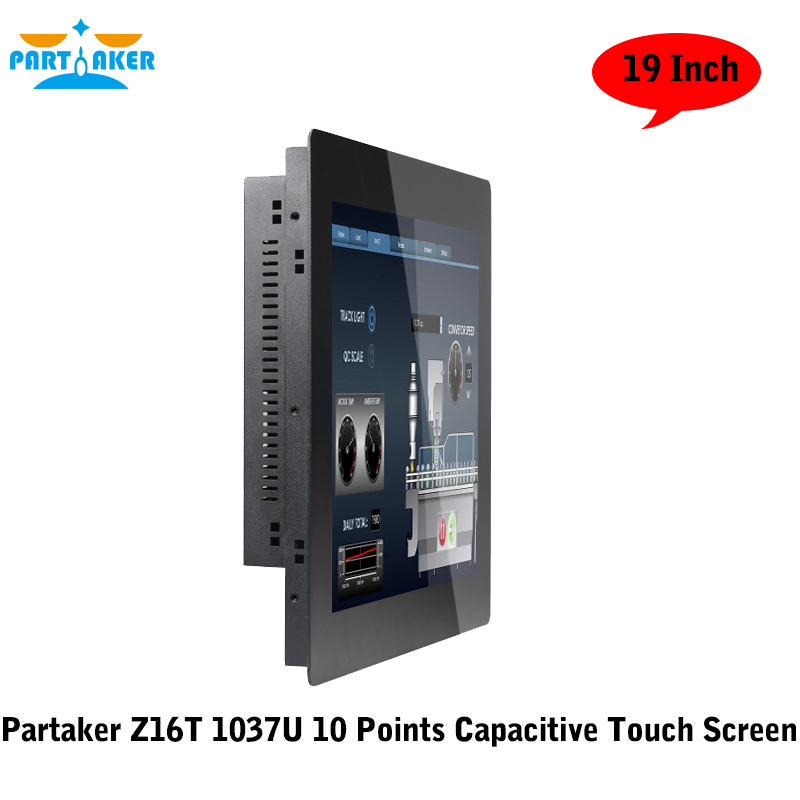 Partaker 19 Inch 2MM Ultra Thin 10 Points Capacitive Touch Screen Computer With Intel Celeron 1037u