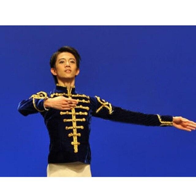 Vận chuyển miễn phí custom thực hiện người đàn ông nhung ba lê áo khoác/prince trang phục múa, ba lê hàng đầu cho nam người lớn cậu bé áo múa ba lê
