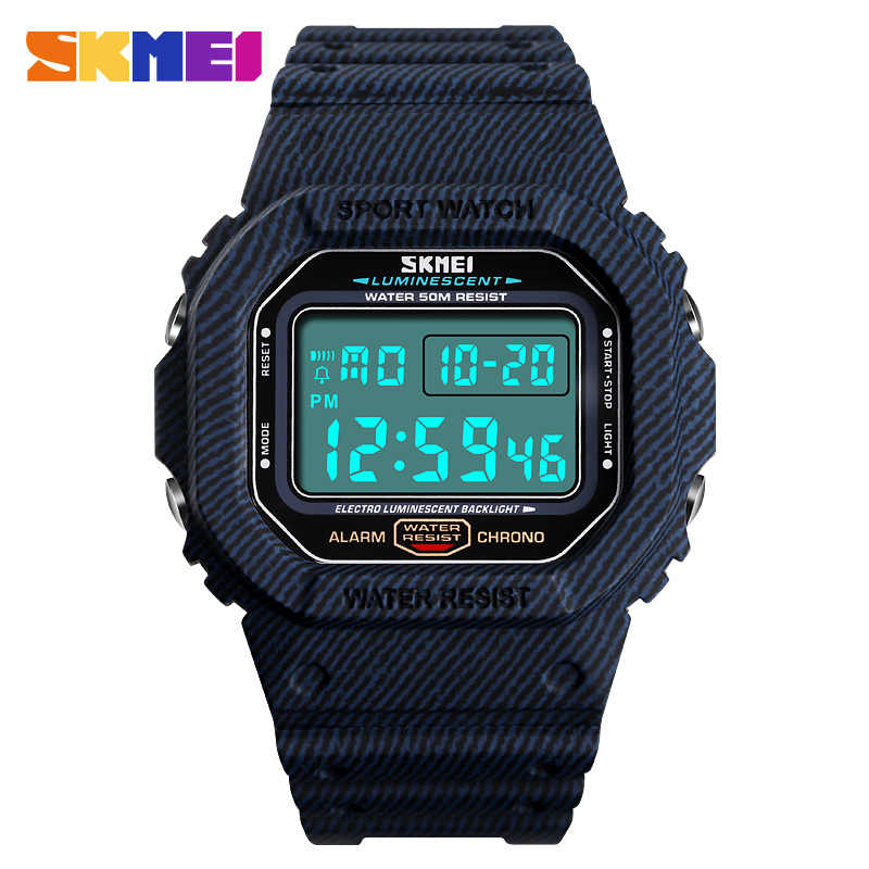 Nieuwe 2019 Outdoor Sport Horloge Mannen 5Bar Waterdichte Horloges Wekker Week Display Militaire Mode Digitale Horloge Reloj Hombre