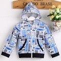 Высокое качество бесплатная доставка мальчик куртки хлопка 100 с милой печати шаблона B05