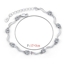 Silver Plated Cubic Zircon Crystal Bracelet for Women