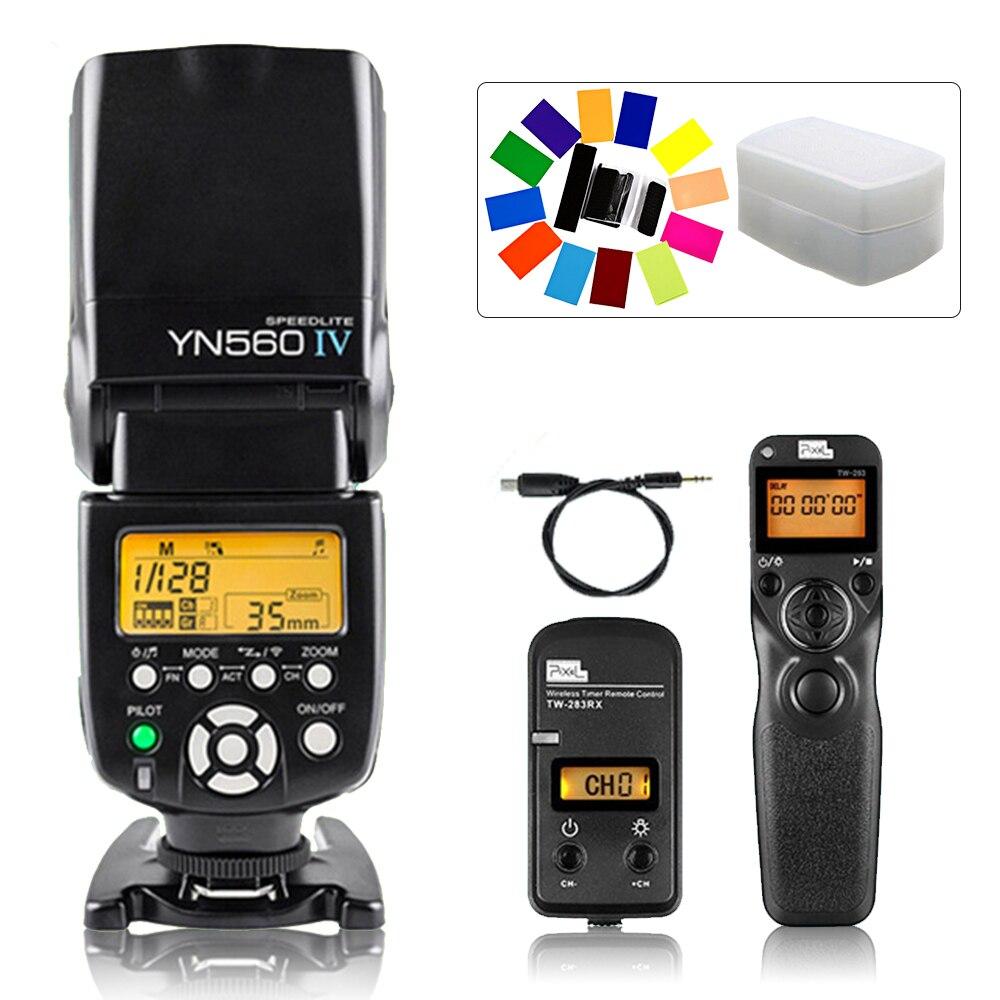 лучшая цена YONGNUO YN560 IV YN-560 IV Flash Speedlite & Pixel TW-283 S2 Shutter Release For Sony A58 A6000 A7 A7r A3000 RX100II