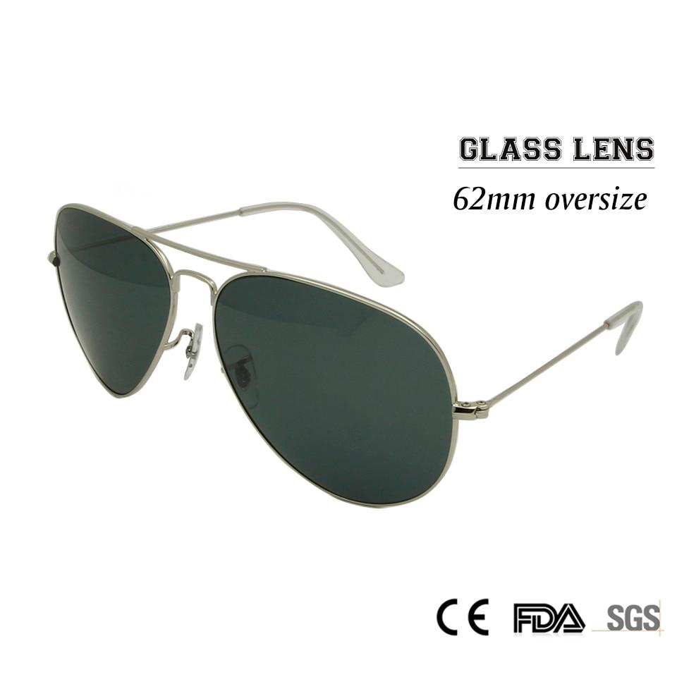 Sorbern Classic 62MM Oversized Sunglasses Men Glass Lens Big Frame Pilot Sun Glass Male Google Eyewear Shades Glasses UV400 - intl